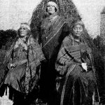 Aunt Mary Gus Cuffee, Lillian Thompson Harvey, Aunt Rose Kellis Williams at Eugene Cuffees 1915-1930 The Shinnecock Indians - a culture history vol vi Gaynell Stone 1983